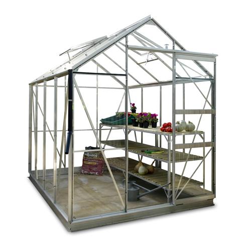 gew chshaus eco plus 191 mit 3mm sicherheitsglas und alu fundament ebay. Black Bedroom Furniture Sets. Home Design Ideas