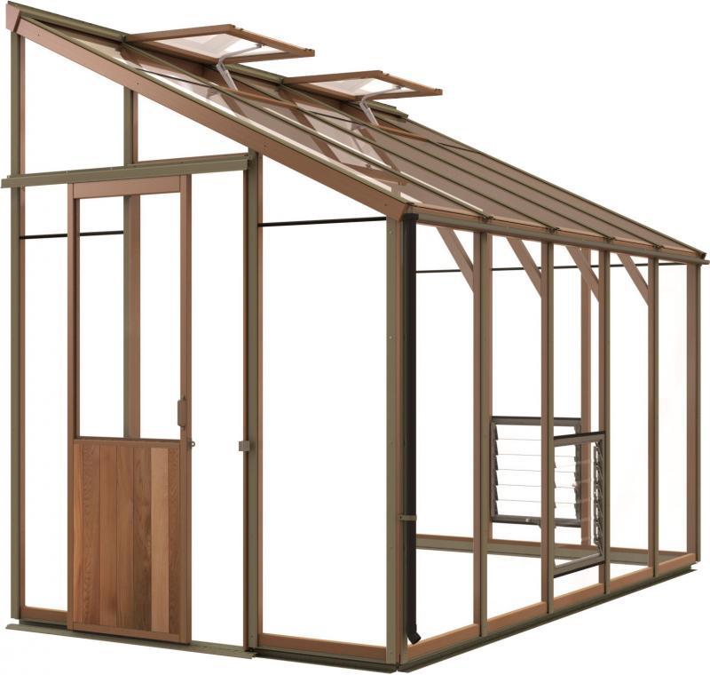 anlehngewachshaus holz. Black Bedroom Furniture Sets. Home Design Ideas