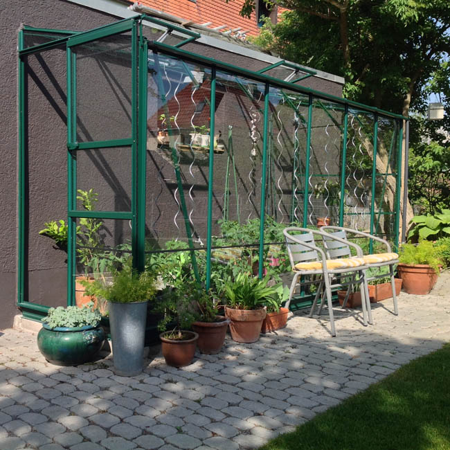 anlehngew chshaus aus glas l5 komplett mit fundament bei. Black Bedroom Furniture Sets. Home Design Ideas