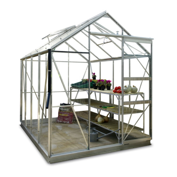 gew chshaus eco plus 191 mit 3mm sicherheitsglas und alu fundament. Black Bedroom Furniture Sets. Home Design Ideas