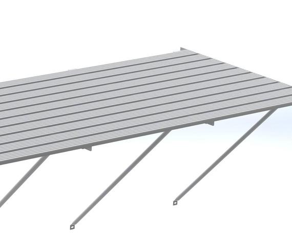 Robinsons Tisch Blank Aluminium 10-lattig 201 cm