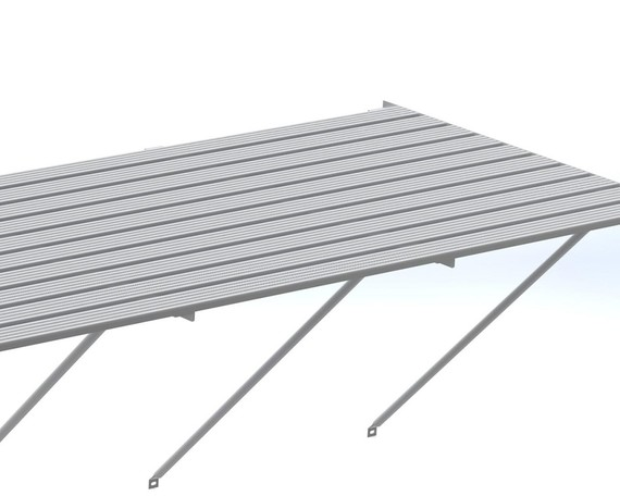 Robinsons Tisch Blank Aluminium 10-lattig 325 cm
