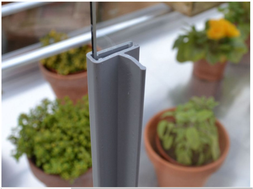 Set Leistengriffe 73 cm für 4 mm Glas 3 St.