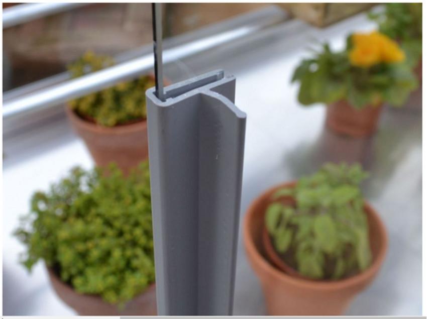 Set Leistengriffe 59 cm für 4 mm Glas