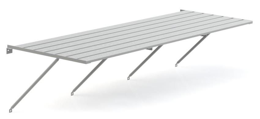 Robinsons Tisch Blank Aluminium 5-lattig 2486 mm