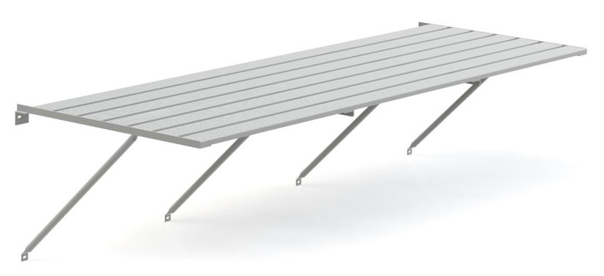 Robinsons Tisch Blank Aluminium 7-lattig 5586 mm