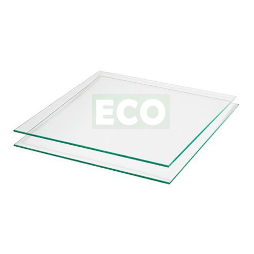 Gewächshaus Scheiben - 5 x klares Glas 610 x 700 mm aus 3 mm ESG