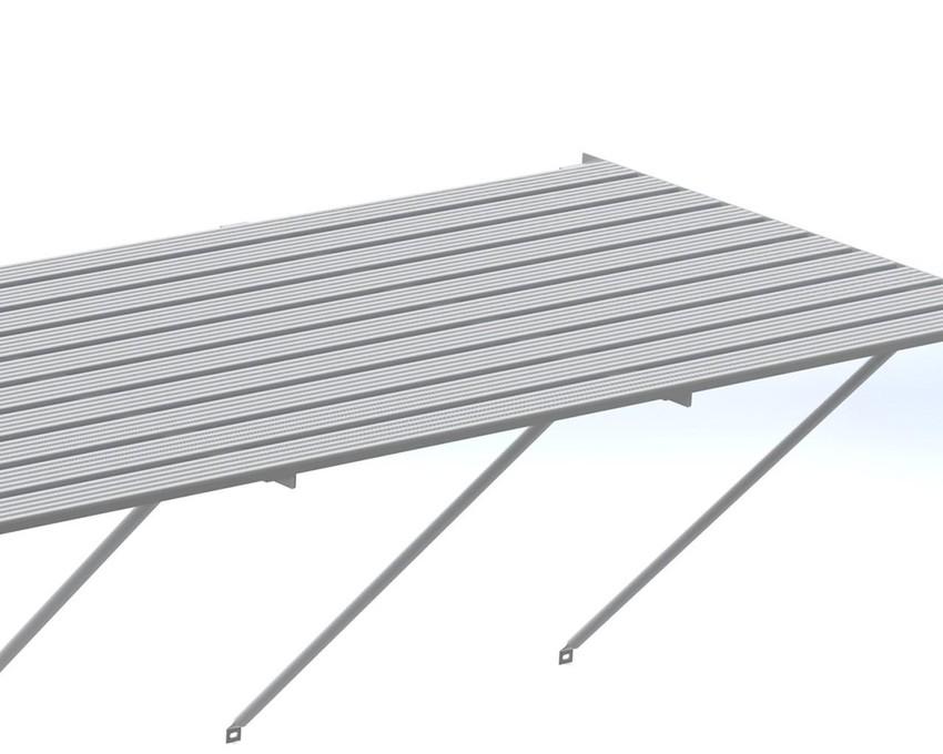 Robinsons Tisch Blank Aluminium 10-lattig 4966 mm