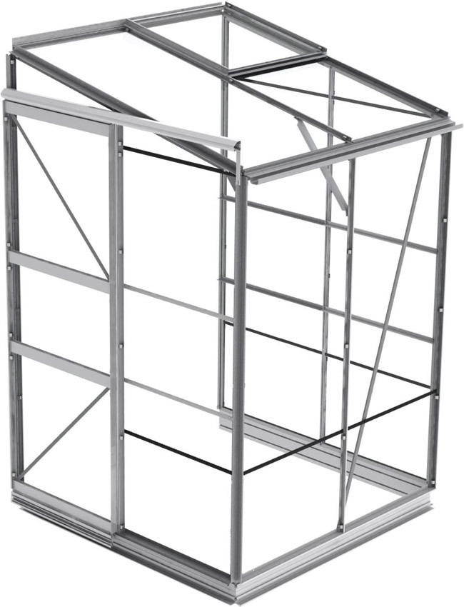 anlehngew chshaus eco plus l1 mit 3mm glas und alu fundament. Black Bedroom Furniture Sets. Home Design Ideas