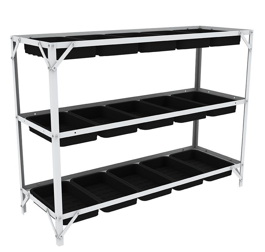 anzuchtregal g4 mit hochwertigen anzuchtschalen f r langj hrige benutzung. Black Bedroom Furniture Sets. Home Design Ideas