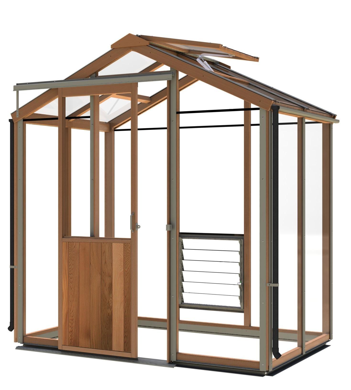 gew chshaus holz evo6 1987mm x 1346mm gew chshaus aus zedernholz mit vollausstattung. Black Bedroom Furniture Sets. Home Design Ideas