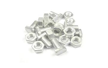 Hammerkopfschrauben mit Muttern aus Aluminium
