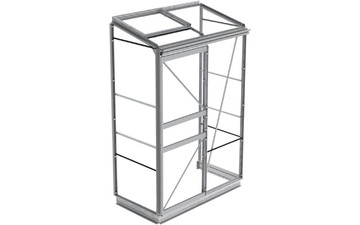 Anlehngewächshaus ECO | PLus mit Rahmen aus Hohlkammer-Aluminium