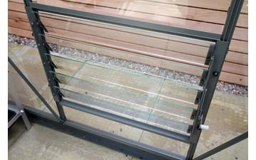 Lamellenfenster universal moosgrau