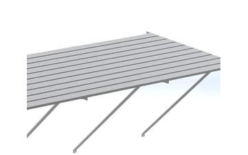 Robinsons Tisch Blank Aluminium 10-lattig 1886 mm