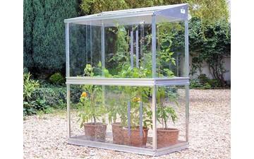 Tomatenhaus aus Glas