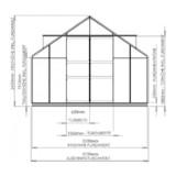 Gewächshaus ECO | Plus 315 Querschnitt