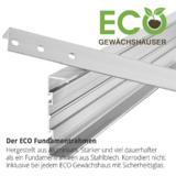 Gewächshaus Fundamentprofil aus Aluminium inklusive