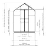 Gewächshaus ECO | Plus 161 Querschnitt
