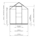 Gewächshaus ECO | Plus 191 Querschnitt