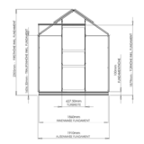 Gewächshaus ECO | Plus 191 Abmessungen