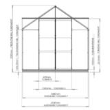 Gewächshaus ECO | Plus253 Querschnitt
