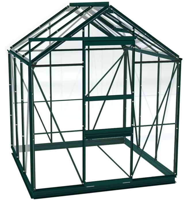 gew chshaus aus glas in gr n inklusive alu fundament. Black Bedroom Furniture Sets. Home Design Ideas