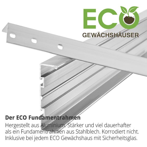 anlehngew chshaus eco plus s2 moosgrau aluminium mit sicherheitsglas 67cm x 191cm bei. Black Bedroom Furniture Sets. Home Design Ideas