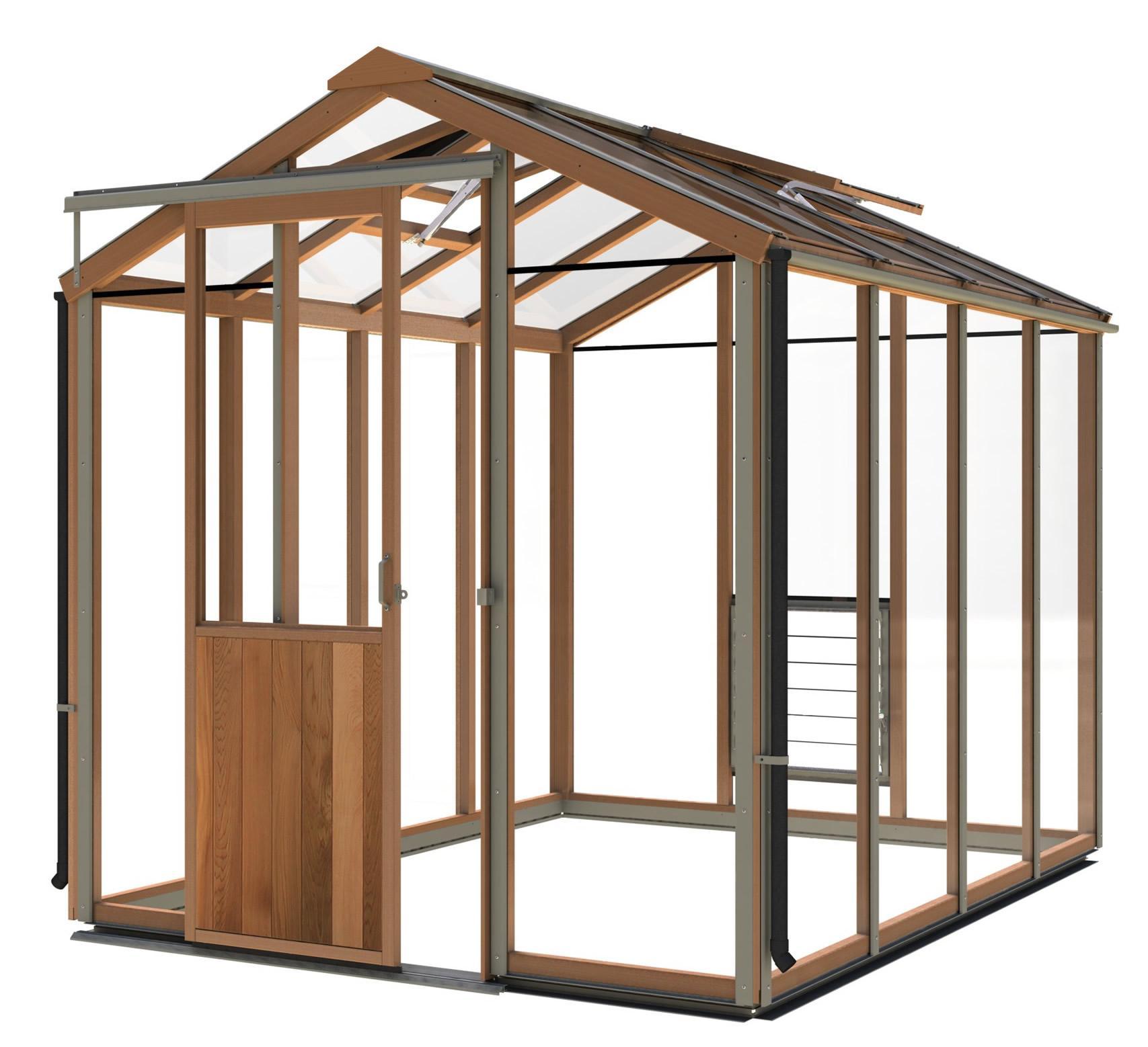 gew chshaus holz evo6 1987mm x 2606mm gew chshaus aus zedernholz mit vollausstattung. Black Bedroom Furniture Sets. Home Design Ideas